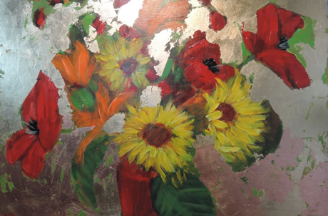 Sunflowers Lilies and Poppies - Lynn Golden